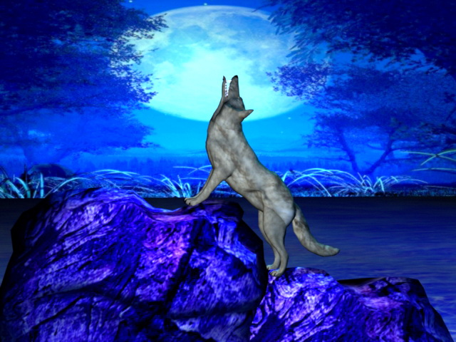 Wolf Moon 3d model rendered image