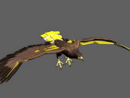 Animated Bald Eagle Rig 3d model