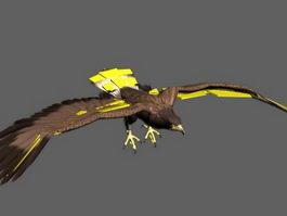 Animated Bald Eagle Rig 3d model