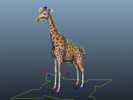 Reticulated Giraffe Rig 3d model