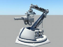 Automatic Gun Turret 3d model