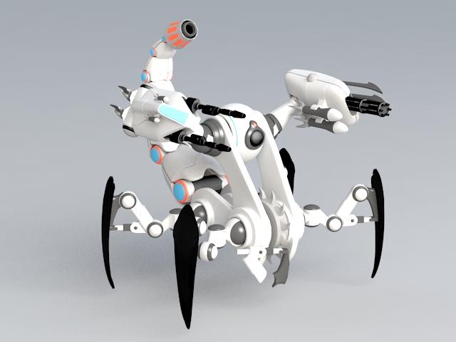 Scorpion Walker 3d model rendered image