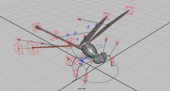 Dragonfly Rig 3d model rendered image