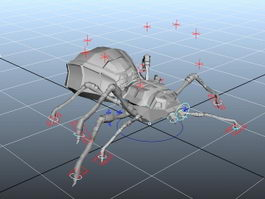 Animated Spider Bug Rig 3d model