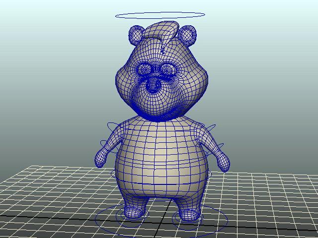 Cartoon Bear Rig 3d model rendered image