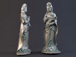 Avalokitesvara Statue 3d model