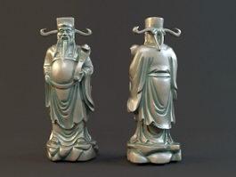 Fortune God Statue 3d model