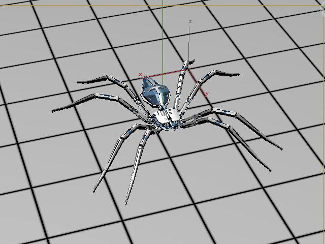 Robot Spider 3d model rendered image