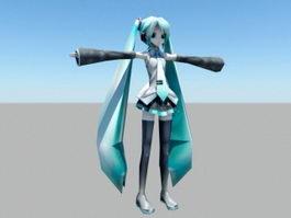 Anime Hatsune Miku 3d model