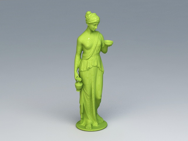 Venus Garden Statue 3d model rendered image