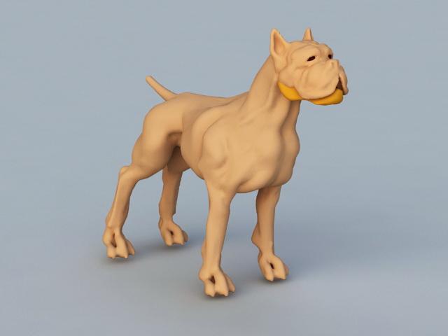 Shar Pei Dog 3d model rendered image