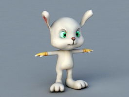 Cartoon Rabbit Character 3d model