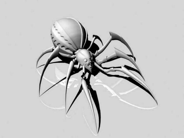 Big Scary Spider 3d model rendered image