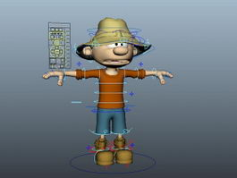 Farm Boy Rigged 3d model