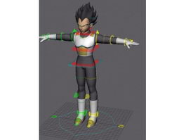 Dragon Ball Vegeta 3d model
