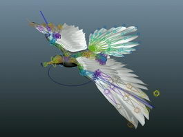 Flying Bird Rig 3d model
