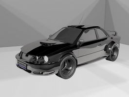 Subaru WRX STI Sports Car 3d model