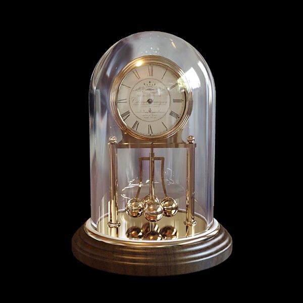 Vintage Mantel Clock 3d model rendered image
