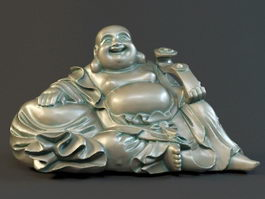 Laughing Buddha Sitting 3d model