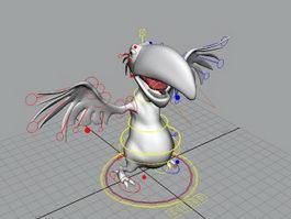 Cute Vulture Rig 3d model