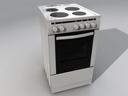 Kitchen Stove And Oven 3d model