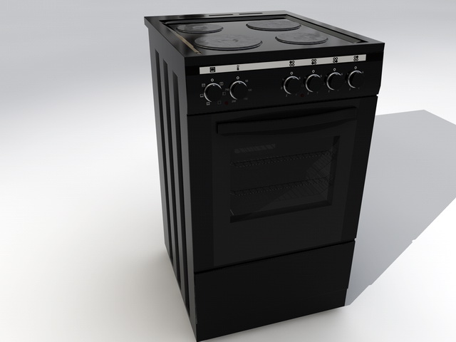 Kitchen Stove And Oven 3d model rendered image