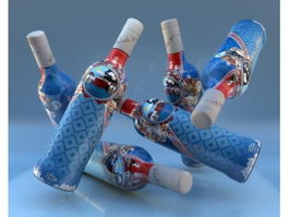 Botellas De Alcohol 3d model