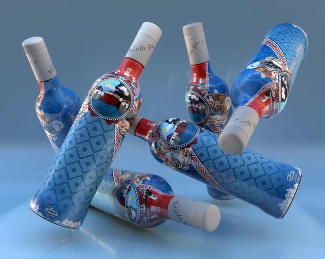 Botellas De Alcohol 3d model Cinema 4D files free download
