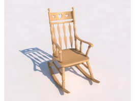 Rustic Rocking Chair 3d model