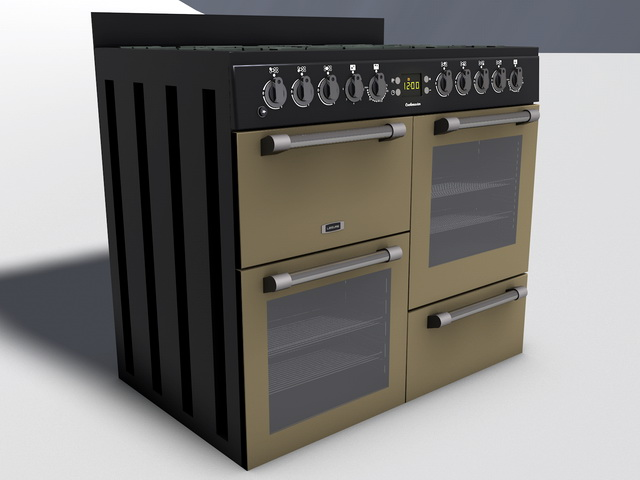 Kitchen Range 3d model 3D Studio,Cinema 4D,Object files free