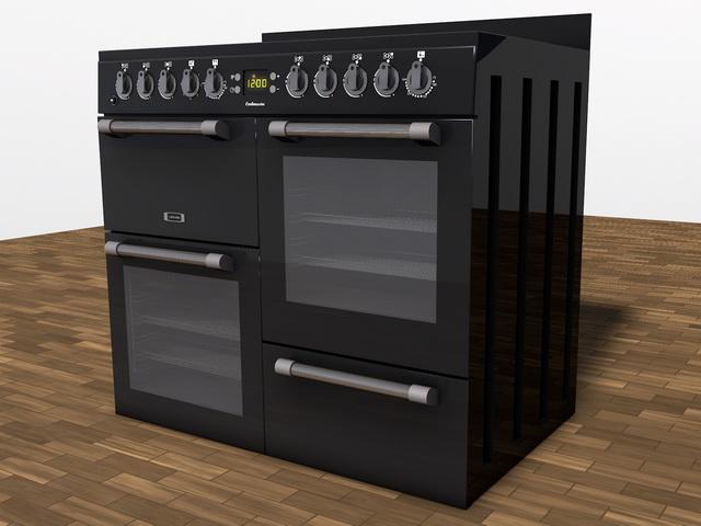 Kitchen Range 3d model rendered image