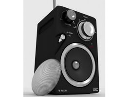 Portable Speaker with Radio 3d model