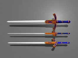 Saber Excalibur Sword 3d model