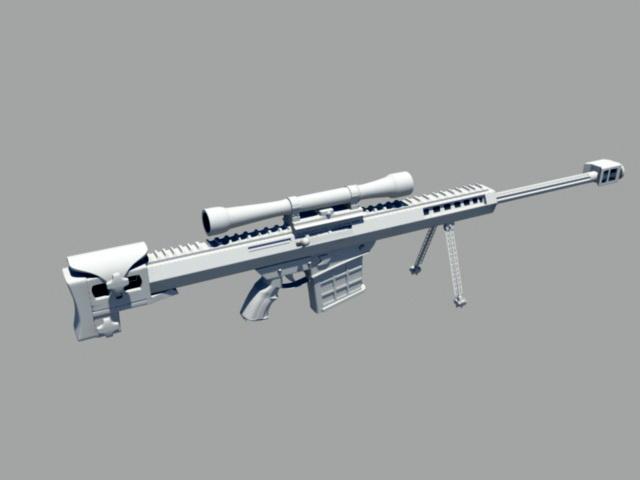 Marine Sniper Rifle 3d model rendered image