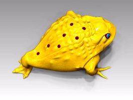 Gold Toad Rig 3d model