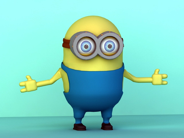 Minion Rigged 3d model rendered image