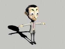 Mr Bean Cartoon 3d model