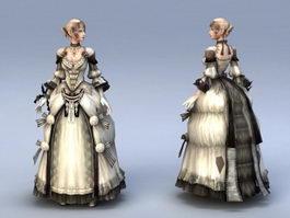 Medieval Noble Lady 3d model