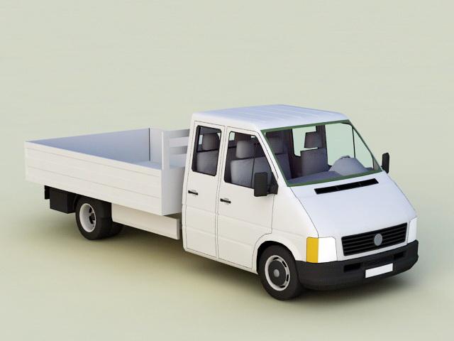 Pickup Truck 3d model rendered image