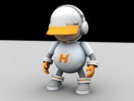 Cute Cartoon Robot 3d model
