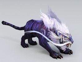 Mystical Tiger 3d model
