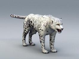 Snow Leopard 3d model
