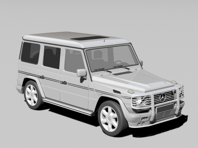 Mercedes G500 4×4 3d model rendered image