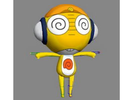 Yellow Cartoon Character Rig 3d model