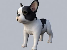 French Bulldog Puppy 3d model