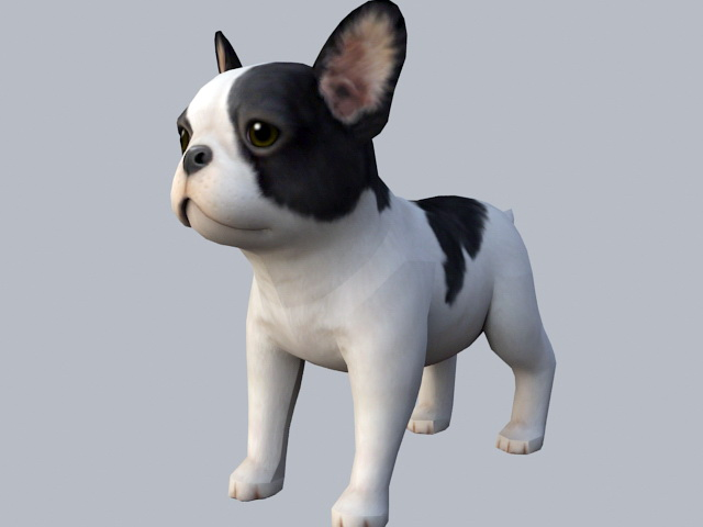 French Bulldog Puppy 3d model rendered image