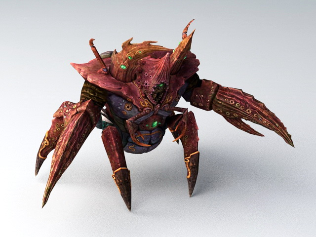 Animated Crab Monster 3d Model 3ds Max Files Free Download