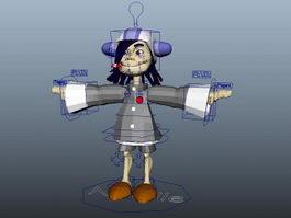 Animated Cartoon Girl 3d model
