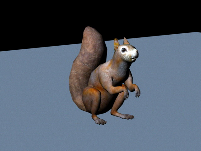 Fox Squirrel 3d model rendered image