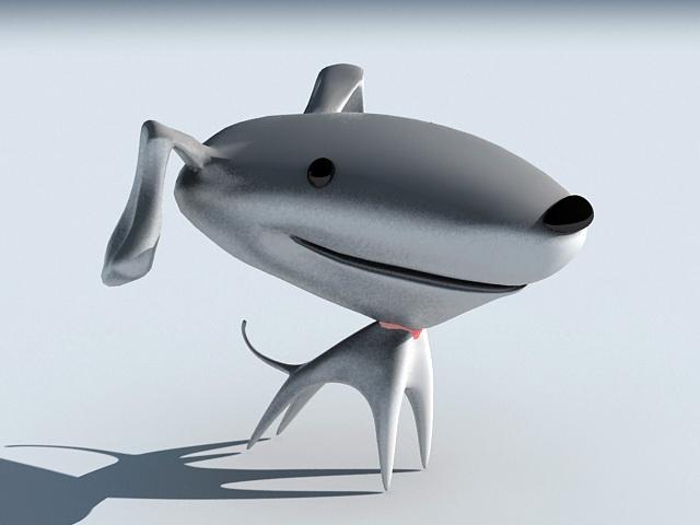 Cartoon Dog Character 3d model rendered image